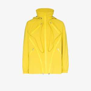 Paria Farzaneh Mens Yellow Packable Zippered Jacket