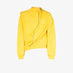 Y/project Mens Yellow Infinity Cotton Linen Crew Sweater