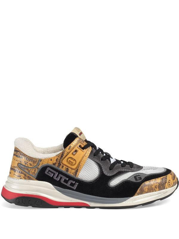 Gucci Shoe Size Chart Mens : gucci, chart, Yellow, Black, Gucci, Men's, Ultrapace, Sneakers, Express, Delivery, Farfetch