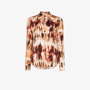 Nanushka Womens Multicolour Celes Tie-dye Shirt