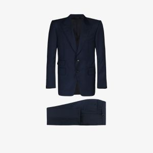 Tom Ford Mens Black Single-breasted Two-piece Suit