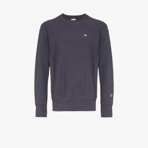 Champion Mens Blue Embroidered Logo Cotton Sweatshirt