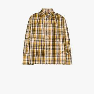Uniforme Mens Brown Checked Short Trench Coat
