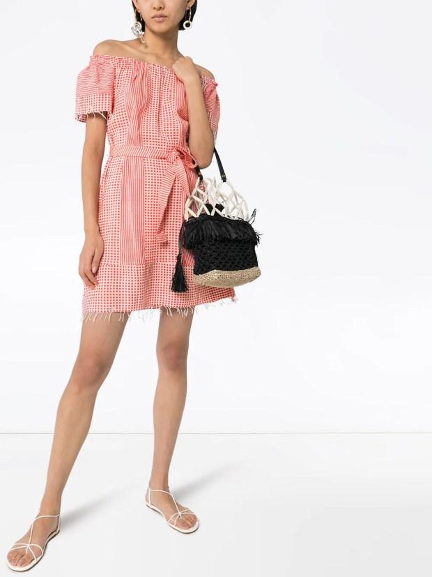 Image 2 of lemlem Semira off-the-shoulder printed dress