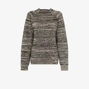 Carcel Womens Grey Milano Boyfriend Mélange Alpaca Wool Sweater