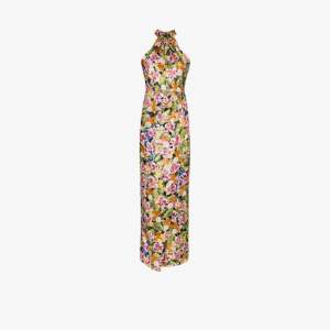 Borgo De Nor Womens Black Alyona Floral Print Maxi Dress