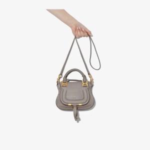 Chloé Womens Grey Marcie Mini Leather Handbag