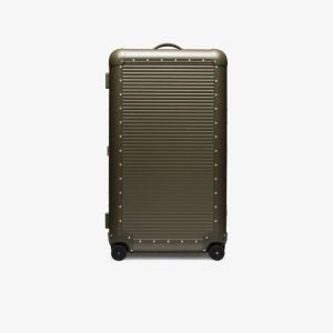 Fpm Milano X Nick Wooster Green Aluminium Spinner 53 Suitcase