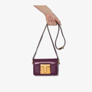 Tom Ford Womens Purple 001 Small Leather Shoulder Bag
