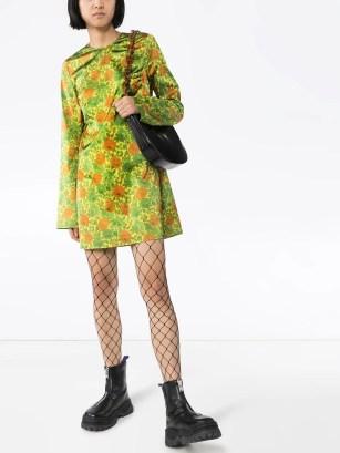 Image 2 of Marques'Almeida floral-print satin mini dress