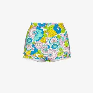 Dodo Bar Or Womens Blue Willie Floral Print Bikini Bottoms