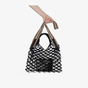 Stella Mccartney Black Knotted Faux Leather Tote Bag
