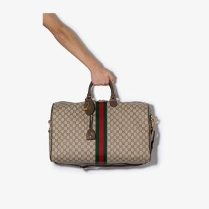 Gucci Mens Brown Ophidia Gg Canvas Duffle Bag