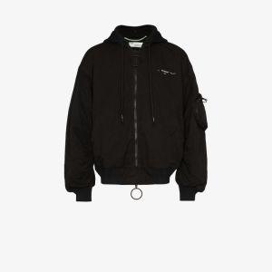 Off-white Mens Black Arrows Cotton Bomber Jacket