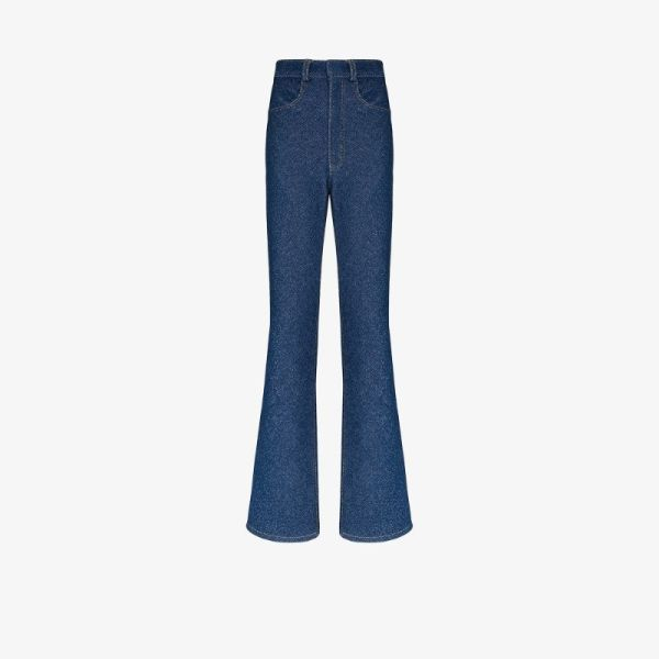 Alled-martinez High Waist Longline Jeans
