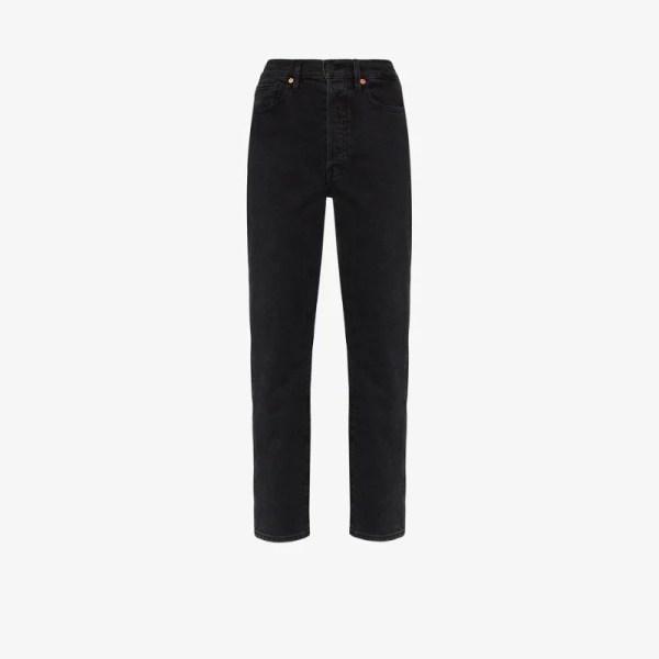 3x1 Womens Black Claudia Slim Leg Jeans
