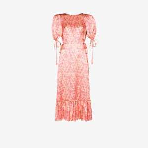 The Vampire's Wife Womens Pink Honey Trap Floral Silk Dress