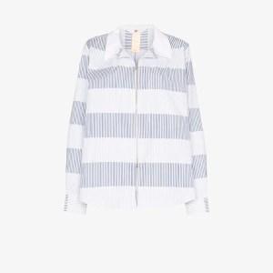 Eytys Womens Blue Daytona Striped Shirt