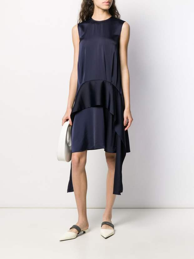Image 2 of Victoria Victoria Beckham draped scarf dress