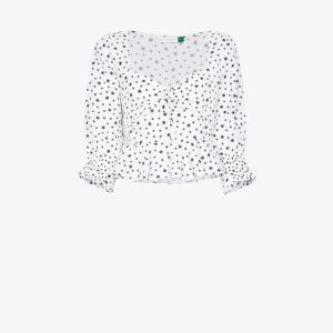 Rixo Womens White Sameera Star Print Top