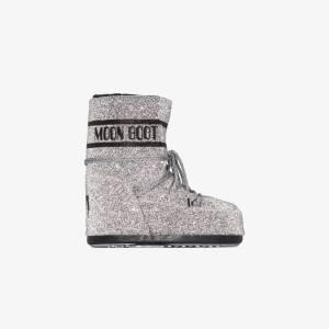 Moon Boot Womens Silver Swarovski Snow Boots