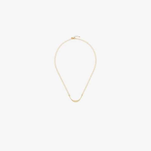 5 Octobre Womens Gold-plated Suzan Curve Chain Necklace