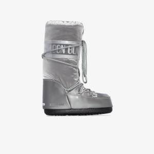 Moon Boot Womens Silver Glance Snow Boots