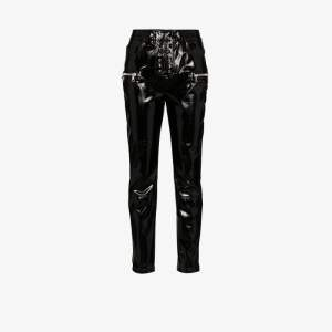 Unravel Project Womens Black Skinny Latex Trousers