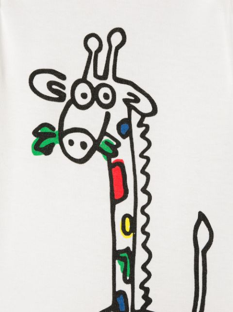 Stella Mccartney Kids Giraffe Pyjamas And Bib Set Ss20