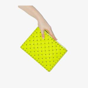 Valentino Womens Yellow Val Rockstud Med Fluro Pouch