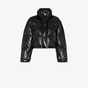 Shoreditch Ski Club Scala Patent Leather Puffer Jacket
