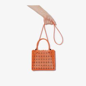 Alaïa Womens Orange Garance 20 Cutout Leather Shoulder Bag