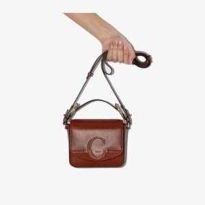 Chloé Womens Brown Mini Chloé Womens C Leather Bag