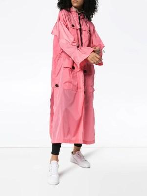 No Ka' Oi hooded zip-front coat