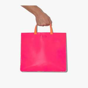 Comme Des Garçons Wallet Mens Pink Multicoloured Colour Block Tote Bag