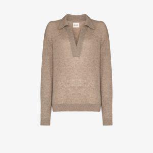 Khaite Womens Neutrals Jo Cashmere Knit Sweater