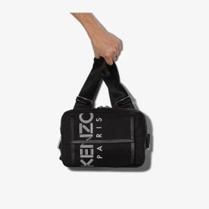 Kenzo Mens Black Paris Logo Chest Messenger Bag