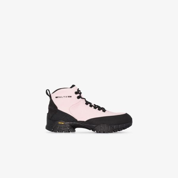 1017 Alyx 9sm Mens Pink Suede Hiking Boots
