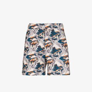 Orlebar Brown Mens Blue Bulldog Summer Scene Swim Shorts