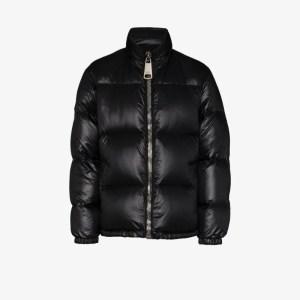 Moschino Mens Black Logo Appliqué Padded Jacket