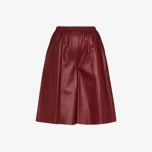 Joseph Womens Red Tomy Leather Shorts