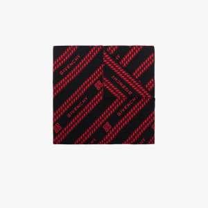 Givenchy Womens Neutrals Giv 70 X 180 Chain Wool Logo Scrf