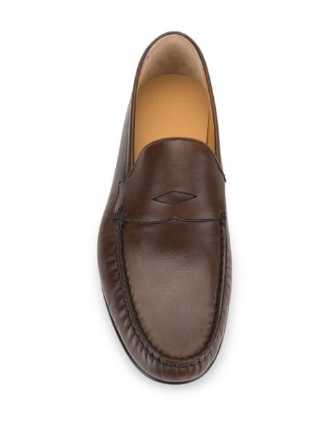 Bally brown Crammer slip-on loafers for men | 6231421 at Farfetch.com