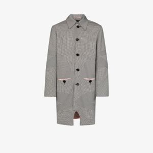 Av Vattev Mens Multicolour O'keefe Merino Wool Overcoat