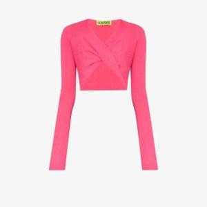 Gauge81 Womens Pink Gauge81 Womens Pink Durham Jmpr Vnk Lng Slvs Crppd W
