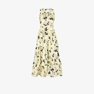 Erdem Womens Yellow Erdem Womens Yellow Mimosa Dress Rosemont Cott Faille