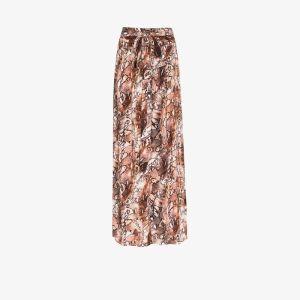 Melissa Odabash Womens Brown Elsa Snake Print Maxi Skirt