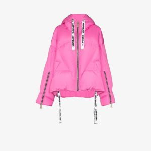 Khrisjoy Womens Pink Feather Down Puffer Jacket