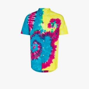 Polo Ralph Lauren Mens Multicolour Oxford Tie-dye Logo Shirt