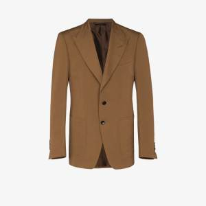 Tom Ford Mens Brown Shelton Single-breasted Blazer